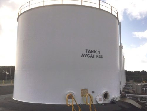 Flat bottom Aviation fuel storage tank
