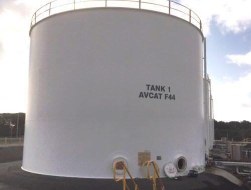 Flat bottom Aviation fuel storage tank